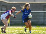 21 April 2018; Ciara Randles of St Brigids, S.S, Killarney in action against Niamh McGrath of Coláiste Bhaile Chláir, Claregalway during the Lidl All Ireland Post Primary School Junior B Final match between St Brigids, S.S, Killarney and Coláiste Bhaile Chláir, Claregalway, Galway at Mick Neville Park in Rathkeale, Limerick. Photo by Matt Browne/Sportsfile
