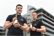22 April 2018; Galway's Damien Comer and Tipperary's Jason Forde confirmed as the PwC GAA/GPA Players of the Month for April in football and hurling. Pictured is Damien Comer, left, and Jason Forde after being presented with their PwC GAA/GPA Player of the Month Awards at a reception in PwC Offices, Dublin. Photo by David Fitzgerald/Sportsfile