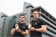 22 April 2018; Galway's Damien Comer and Tipperary's Jason Forde confirmed as the PwC GAA/GPA Players of the Month for April in football and hurling. Pictured is Jason Forde, right, and Damien Comer after being presented with their PwC GAA/GPA Player of the Month Awards at a reception in PwC Offices, Dublin. Photo by David Fitzgerald/Sportsfile