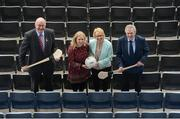 23 April 2018; Cavan/Monaghan Palliative Care Fund representatives, from left, Aveen O'Reilly, Clincial Nurse Specialist, Catherine Geoghegan, Clerical Officer, and Jimmy O'Donnell, Chairman of Cavan Monaghan Palliative Care Fund, with Uachtarán Chumann Lúthchleas Gael John Horan as the GAA announced it's list of charities for 2018. Five charities from around the country and representing a range of different causes were selected to be charity partners for this year. Each charity will receive a €20,000 donation from the GAA. This year's GAA Official Charities are; Mayo/Roscommon Hospice Foundation, Cavan/Monaghan Palliative Care Fund, Jack & Jill Children's Foundation, Concern Worldwide, and Kerry Hospice Foundation. The 'Rollin2Nowlan' GAA and Croke Park Staff Charity Cycle was also launched, which will see a party of 35 cyclists  brave the elements, and lycra, to raise awarness and funds for the GAA's five offical charities. They will cycle 140km from Croke Park to Nowlan Park, Kilkenny, on the 27th of April. Croke Park in Dublin. Photo by Piaras Ó Mídheach/Sportsfile