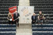 23 April 2018; Croke Park staff members Niamh Boyle and Kevin Sexton with Uachtarán Chumann Lúthchleas Gael John Horan and Barry Hickey, Treasurer of the Kilkenny County Board, at the launch of The 'Rollin2Nowlan' GAA and Croke Park Staff Charity Cycle, which will see a party of 35 cyclists brave the elements, and lycra, and cycle 140km from Croke Park to Nowlan Park, Kilkenny, on the 27th of April, to raise awarness and funds for the GAA's five offical charities for 2018, which were announced today. This year's GAA Official Charities are; Mayo/Roscommon Hospice Foundation, Cavan/Monaghan Palliative Care Fund, Jack & Jill Children's Foundation, Concern Worldwide, and Kerry Hospice Foundation. Croke Park in Dublin. Photo by Piaras Ó Mídheach/Sportsfile