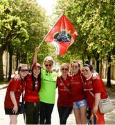 22 April 2018; Munster supporters, The Meaney's, Katie, Rebecca, Jacinta, Trish, Sam, and Edel, from Ardfinnan, Co. Tipperary during the European Rugby Champions Cup semi-final match between Racing 92 and Munster Rugby at the Stade Chaban-Delmas in Bordeaux, France. Photo by Diarmuid Greene/Sportsfile