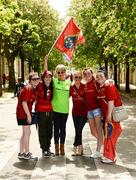 22 April 2018; Munster supporters, The Meaney's, Katie, Rebecca, Jacinta, Trish, Sam, and Edel, from Ardfinnan, Co Tipperary, during the European Rugby Champions Cup semi-final match between Racing 92 and Munster Rugby at the Stade Chaban-Delmas in Bordeaux, France. Photo by Diarmuid Greene/Sportsfile