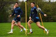 24 April 2018; Noel Reid, right, during Leinster Rugby squad training at Rosemount in UCD, Dublin. Photo by Brendan Moran/Sportsfile