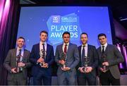 21 April 2018; Slaughtneil players, from left, Christopher Bradley, Brendan Rogers, Chrissy McKaigue, Antóin McMullan and Karl McKaigue with their awards at the AIB GAA Club Player Awards at Croke Park in Dublin. Photo by Eóin Noonan/Sportsfile
