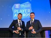 21 April 2018; Nemo Rangers players Alan O'Donovan and Luke Connolly with their awards at the AIB GAA Club Player Awards at Croke Park in Dublin. Photo by Eóin Noonan/Sportsfile