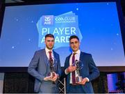 21 April 2018; Moorefield players James Murray and Eanna O'Connor with their awards at the AIB GAA Club Player Awards at Croke Park in Dublin. Photo by Eóin Noonan/Sportsfile