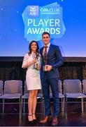 21 April 2018; Sean Moran of Cuala with his wife Karla at the AIB GAA Club Player Awards at Croke Park in Dublin. Photo by Eóin Noonan/Sportsfile