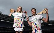 24 April 2018; Cork hurler Eoin Cadogan pictured with Lucan Sarsfields player Leah Dunne, age 13, at the launch of the John West National Féile Competitions 2018. This is the third year that John West will sponsor the underage sports tournament which is one of the biggest events of its kind. Throughout their sponsorship of the Féile, a focus for John West has been to encourage children to take part and participate in GAA during school and beyond. Croke Park, Dublin. Photo by David Fitzgerald/Sportsfile