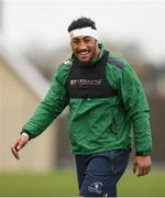 24 April 2018; Bundee Aki during Connacht Rugby squad training at the Sportsground in Galway. Photo by Eóin Noonan/Sportsfile