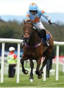 24 April 2018; Un De Sceaux, with Patrick Mullins up, on their way to winning The BoyleSports Champion Steeplechase at Punchestown Racecourse in Naas, Co. Kildare. Photo by Matt Browne/Sportsfile