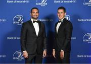 24 April 2018; On arrival at the Leinster Rugby Awards Ball are Dave Kearney, left, and Noel Reid. The Awards, taking place at the InterContinental Dublin and MC'd by Darragh Maloney, were a celebration of the 2017/18 Leinster Rugby season to date and over the course of the evening Leinster Rugby acknowledged the contributions of retirees Isa Nacewa, Richardt Strauss and Jamie Heaslip as well as presenting Leinster Rugby caps to departees Jordi Murphy, Cathal Marsh and Peadar Timmins. Former Leinster and Ireland player Paul McNaughton was inducted into the Guinness Hall of Fame. Some of the other Award winners on the night included; Blackrock College (Deep River Rock School of the Year), Hugh Woodhouse, Mullingar RFC (Beauchamps Contribution to Leinster Rugby Award), MU Barnhall RFC (CityJet Senior Club of the Year), Gorey Community School (Irish Independent Development School of the Year Award), Wicklow RFC (Bank of Ireland Junior Club of the Year) and Nora Stapleton (Energia Women's Rugby Award). Photo by Ramsey Cardy/Sportsfile