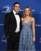 24 April 2018; On arrival at the Leinster Rugby Awards Ball are Jordan Larmour and Lucy Byrne. The Awards, taking place at the InterContinental Dublin and MC'd by Darragh Maloney, were a celebration of the 2017/18 Leinster Rugby season to date and over the course of the evening Leinster Rugby acknowledged the contributions of retirees Isa Nacewa, Richardt Strauss and Jamie Heaslip as well as presenting Leinster Rugby caps to departees Jordi Murphy, Cathal Marsh and Peadar Timmins. Former Leinster and Ireland player Paul McNaughton was inducted into the Guinness Hall of Fame. Some of the other Award winners on the night included; Blackrock College (Deep River Rock School of the Year), Hugh Woodhouse, Mullingar RFC (Beauchamps Contribution to Leinster Rugby Award), MU Barnhall RFC (CityJet Senior Club of the Year), Gorey Community School (Irish Independent Development School of the Year Award), Wicklow RFC (Bank of Ireland Junior Club of the Year) and Nora Stapleton (Energia Women's Rugby Award). Photo by Ramsey Cardy/Sportsfile