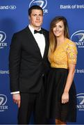 24 April 2018; On arrival at the Leinster Rugby Awards Ball are Ian Nagle and Sally McCarthy. The Awards, taking place at the InterContinental Dublin and MC'd by Darragh Maloney, were a celebration of the 2017/18 Leinster Rugby season to date and over the course of the evening Leinster Rugby acknowledged the contributions of retirees Isa Nacewa, Richardt Strauss and Jamie Heaslip as well as presenting Leinster Rugby caps to departees Jordi Murphy, Cathal Marsh and Peadar Timmins. Former Leinster and Ireland player Paul McNaughton was inducted into the Guinness Hall of Fame. Some of the other Award winners on the night included; Blackrock College (Deep River Rock School of the Year), Hugh Woodhouse, Mullingar RFC (Beauchamps Contribution to Leinster Rugby Award), MU Barnhall RFC (CityJet Senior Club of the Year), Gorey Community School (Irish Independent Development School of the Year Award), Wicklow RFC (Bank of Ireland Junior Club of the Year) and Nora Stapleton (Energia Women's Rugby Award). Photo by Ramsey Cardy/Sportsfile