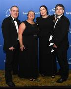 24 April 2018; Jarrod Bromley, Rebecca Leggett, Elaine Cully and Barry McHugh at the awards ball. The Awards, taking place at the InterContinental Dublin and MC'd by Darragh Maloney, were a celebration of the 2017/18 Leinster Rugby season to date and over the course of the evening Leinster Rugby acknowledged the contributions of retirees Isa Nacewa, Richardt Strauss and Jamie Heaslip as well as presenting Leinster Rugby caps to departees Jordi Murphy, Cathal Marsh and Peadar Timmins. Former Leinster and Ireland player Paul McNaughton was inducted into the Guinness Hall of Fame. Some of the other Award winners on the night included; Blackrock College (Deep River Rock School of the Year), Hugh Woodhouse, Mullingar RFC (Beauchamps Contribution to Leinster Rugby Award), MU Barnhall RFC (CityJet Senior Club of the Year), Gorey Community School (Irish Independent Development School of the Year Award), Wicklow RFC (Bank of Ireland Junior Club of the Year) and Nora Stapleton (Energia Women's Rugby Award). Photo by Ramsey Cardy/Sportsfile