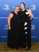 24 April 2018; Rebecca Leggett, left, and Elaine Cully at the awards ball. The Awards, taking place at the InterContinental Dublin and MC'd by Darragh Maloney, were a celebration of the 2017/18 Leinster Rugby season to date and over the course of the evening Leinster Rugby acknowledged the contributions of retirees Isa Nacewa, Richardt Strauss and Jamie Heaslip as well as presenting Leinster Rugby caps to departees Jordi Murphy, Cathal Marsh and Peadar Timmins. Former Leinster and Ireland player Paul McNaughton was inducted into the Guinness Hall of Fame. Some of the other Award winners on the night included; Blackrock College (Deep River Rock School of the Year), Hugh Woodhouse, Mullingar RFC (Beauchamps Contribution to Leinster Rugby Award), MU Barnhall RFC (CityJet Senior Club of the Year), Gorey Community School (Irish Independent Development School of the Year Award), Wicklow RFC (Bank of Ireland Junior Club of the Year) and Nora Stapleton (Energia Women's Rugby Award). Photo by Ramsey Cardy/Sportsfile