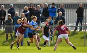 22 April 2018; Noëlle Healy of Dublin in action against Sinéad Burke, left, and Nicola Ward of Galway during the Lidl Ladies Football National League Division 1 semi-final match between Dublin and Galway at Coralstown Kinnegad GAA in Kinnegad, Westmeath. Photo by Piaras Ó Mídheach/Sportsfile