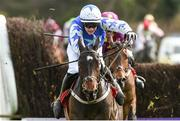 27 April 2018; Kemboy, with Paul Townend up, on their way to winning The EMS Copiers Novice Handicap Steeplechase after jumping the last at Punchestown Racecourse in Naas, Co. Kildare. Photo by Matt Browne/Sportsfile