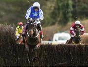 27 April 2018; Kemboy, with Paul Townend up, jumps the last on their way to winning The EMS Copiers Novice Handicap Steeplechase at Punchestown Racecourse in Naas, Co. Kildare. Photo by Matt Browne/Sportsfile