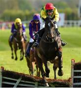 27 April 2018; Supasundae with Robbie Power up, jumps the last on their way to winning The BETDAQ 2% Commission Punchestown Champion Hurdle at Punchestown Racecourse in Naas, Co. Kildare. Photo by Matt Browne/Sportsfile