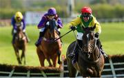 27 April 2018; Supasundae with Robbie Power up, on their way to winning The BETDAQ 2% Commission Punchestown Champion Hurdle at Punchestown Racecourse in Naas, Co. Kildare. Photo by Matt Browne/Sportsfile