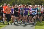 28 April 2018; Former World Champion and Olympic Silver medallist Sonia O'Sullivan completed her 100th parkrun at Cabinteely parkrun on Saturday morning where Vhi hosted a special event to celebrate the achievement. More than 400 parkrunners and volunteers enjoyed refreshments in the Vhi Relaxation Area where a physiotherapist took participants through a post-event stretching routine. parkrun in partnership with Vhi support local communities in organising free, weekly, timed 5k runs every Saturday at 9.30am. To register for a parkrun near you visit www.parkrun.ie. Photo by Piaras Ó Mídheach/Sportsfile