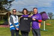 28 April 2018; Former World Champion and Olympic Silver medallist Sonia O'Sullivan completed her 100th parkrun at Cabinteely parkrun on Saturday morning where Vhi hosted a special event to celebrate the achievement. More than 400 parkrunners and volunteers enjoyed refreshments in the Vhi Relaxation Area where a physiotherapist took participants through a post-event stretching routine. parkrun in partnership with Vhi support local communities in organising free, weekly, timed 5k runs every Saturday at 9.30am. To register for a parkrun near you visit www.parkrun.ie. Pictured is Sonia O'Sullivan with Event Director Olwyn Dunne and Vhi representative Declan Moran before the race. Photo by Piaras Ó Mídheach/Sportsfile