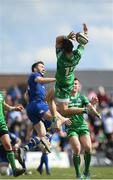 28 April 2018; Tiernan O'Halloran of Connacht in action against Barry Daly of Leinster during the Guinness PRO14 Round 21 match between Connacht and Leinster at the Sportsground in Galway. Photo by Ramsey Cardy/Sportsfile