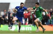 28 April 2018; Barry Daly of Leinster is tackled by Tiernan O'Halloran of Connacht during the Guinness PRO14 Round 21 match between Connacht and Leinster at the Sportsground in Galway. Photo by Ramsey Cardy/Sportsfile