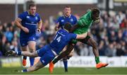 28 April 2018; Niyi Adeolokun of Connacht is tackled by Barry Daly of Leinster during the Guinness PRO14 Round 21 match between Connacht and Leinster at the Sportsground in Galway. Photo by Brendan Moran/Sportsfile