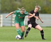 28 April 2018; Saoirse Noonan of Cork City WFC in action against Orla Casey of Wexford Youths during the Continental Tyres Women's National League match between Wexford Youths and Cork City WFC at Ferrycarrig Park in Wexford. Photo by Matt Browne/Sportsfile