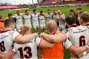28 April 2018; Rory Best of Ulster speaks to his team-mates after the Guinness PRO14 Round 21 match between Munster and Ulster at Thomond Park in Limerick. Photo by Diarmuid Greene/Sportsfile