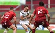 28 April 2018; Tommy Bowe of Ulster in action against Dan Goggin, left, and Jean Kleyn of Munster during the Guinness PRO14 Round 21 match between Munster and Ulster at Thomond Park in Limerick. Photo by Diarmuid Greene/Sportsfile