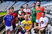 30 April 2018; In attendance during the Christy Ring Cup competition launch are, from left, Warren Kavanagh of Wicklow, Paul Sheehan of Down, Corey Scahill of Mayo, Naos Connaghton of Roscommon, Brendan Rogers of Derry, Conor Hickey of London, Ciaran Clifford of Armagh and John Doran of Kildare at Croke Park in Dublin. Photo by David Fitzgerald/Sportsfile