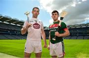 30 April 2018; John Doran of Kildare, left, and Corey Scahill of Mayo in attendance during the Christy Ring Cup competition launch at Croke Park in Dublin. Photo by David Fitzgerald/Sportsfile