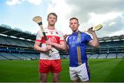 30 April 2018; Brendan Rogers of Derry, left, and Warren Kavanagh of Wicklow in attendance during the Christy Ring Cup competition launch at Croke Park in Dublin. Photo by David Fitzgerald/Sportsfile