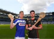 30 April 2018; Ross King of Laois with Brian Tracey of Carlow during the McDonagh competition launch at Croke Park in Dublin. Photo by Eóin Noonan/Sportsfile