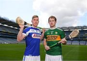 30 April 2018; Ross King of Laois with Padraig Boyle of Kerry during the McDonagh competition launch at Croke Park in Dublin. Photo by Eóin Noonan/Sportsfile