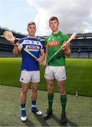 30 April 2018; Ross King of Laois with Damien Healy of Meath during the McDonagh competition launch at Croke Park in Dublin. Photo by Eóin Noonan/Sportsfile