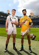 30 April 2018; Paul Hoban of Warwickshire with Zak Moradi of Leitrim during the Rackard competition launch at Croke Park in Dublin. Photo by Eóin Noonan/Sportsfile