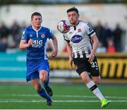 30 April 2018; Dean Jarvis of Dundalk in action against James Doona of St Patrick's Athletic  during the SSE Airtricity League Premier Division match between Dundalk and St Patrick's Athletic at Oriel Park in Dundalk, Co Louth. Photo by Harry Murphy/Sportsfile