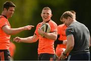 30 April 2018; Billy Holland, left, Andrew Conway and forwards coach Jerry Flannery during Munster Rugby Squad Training at University of Limerick, Co Limerick. Photo by Piaras Ó Mídheach/Sportsfile