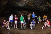 2 May 2018; Players, from left, Rory O'Connor of Wexford, Peter Hogan of Waterford, Jack Canning of Galway, Kyle Hayes of Limerick, Richie Leahy of Kilkenny, Fergal Whitely of Dublin, Paudie Feehan of Tipperary, Ryan Elliot of Antrim, Jason McCarthy of Clare and Darragh Fitzgibbon of Cork at the launch of the Bord Gáis Energy GAA Hurling U21 All-Ireland Championship at Mitchelstown Caves in Cork. The 2018 campaign begins on May 7th with Clare hosting current holders Limerick in Ennis. Follow all of the action at #HurlingToTheCore. Photo by Eóin Noonan/Sportsfile