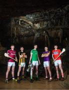 2 May 2018; Players, from left, Jack Canning of Galway, Richie Leahy of Kilkenny, Kyle Hayes of Limerick, Rory O'Connor of Wexford and Darragh Fitzgibbon of Cork at the launch of the Bord Gáis Energy GAA Hurling U21 All-Ireland Championship at Mitchelstown Caves in Cork. The 2018 campaign begins on May 7th with Clare hosting current holders Limerick in Ennis. Follow all of the action at #HurlingToTheCore. Photo by Eóin Noonan/Sportsfile