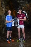 2 May 2018; Fergal Whitely of Dublin with Jack Canning of Galway at the launch of the Bord Gáis Energy GAA Hurling U21 All-Ireland Championship at Mitchelstown Caves in Cork. The 2018 campaign begins on May 7th with Clare hosting current holders Limerick in Ennis. Follow all of the action at #HurlingToTheCore. Photo by Eóin Noonan/Sportsfile