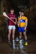 2 May 2018; Jack Canning of Galway with Jason McCarthy of Clare at the launch of the Bord Gáis Energy GAA Hurling U21 All-Ireland Championship at Mitchelstown Caves in Cork. The 2018 campaign begins on May 7th with Clare hosting current holders Limerick in Ennis. Follow all of the action at #HurlingToTheCore. Photo by Eóin Noonan/Sportsfile
