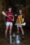 2 May 2018; Jack Canning of Galway with Richie Leahy of Kilkenny at the launch of the Bord Gáis Energy GAA Hurling U21 All-Ireland Championship at Mitchelstown Caves in Cork. The 2018 campaign begins on May 7th with Clare hosting current holders Limerick in Ennis. Follow all of the action at #HurlingToTheCore. Photo by Eóin Noonan/Sportsfile