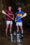 2 May 2018; Jack Canning of Galway with Paudie Feehan of Tipperary at the launch of the Bord Gáis Energy GAA Hurling U21 All-Ireland Championship at Mitchelstown Caves in Cork. The 2018 campaign begins on May 7th with Clare hosting current holders Limerick in Ennis. Follow all of the action at #HurlingToTheCore. Photo by Eóin Noonan/Sportsfile