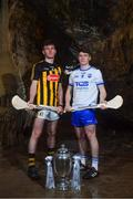 2 May 2018; Richie Leahy of Kilkenny with Peter Hogan of Waterford at the launch of the Bord Gáis Energy GAA Hurling U21 All-Ireland Championship at Mitchelstown Caves in Cork. The 2018 campaign begins on May 7th with Clare hosting current holders Limerick in Ennis. Follow all of the action at #HurlingToTheCore. Photo by Eóin Noonan/Sportsfile
