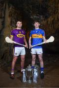 2 May 2018; Rory O'Connor of Wexford with Paudie Feehan of Tipperary at the launch of the Bord Gáis Energy GAA Hurling U21 All-Ireland Championship at Mitchelstown Caves in Cork. The 2018 campaign begins on May 7th with Clare hosting current holders Limerick in Ennis. Follow all of the action at #HurlingToTheCore. Photo by Eóin Noonan/Sportsfile
